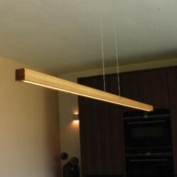 houten hanglamp balk eiken 150