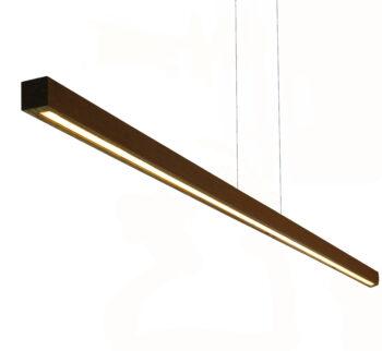 Hanglamp hout zwart ByLum 180 Wenge